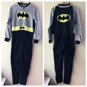 Batman Onesie Fleece Pajamas with Removable Cape